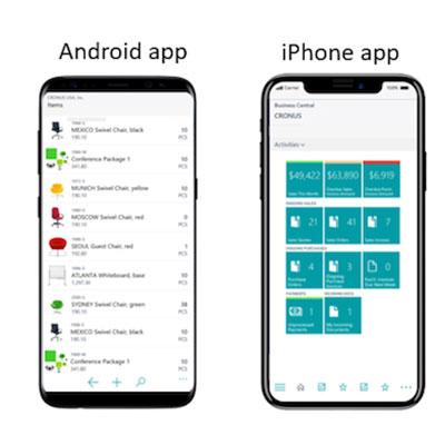 اپلیکیشن موبایل Dynamics NAV