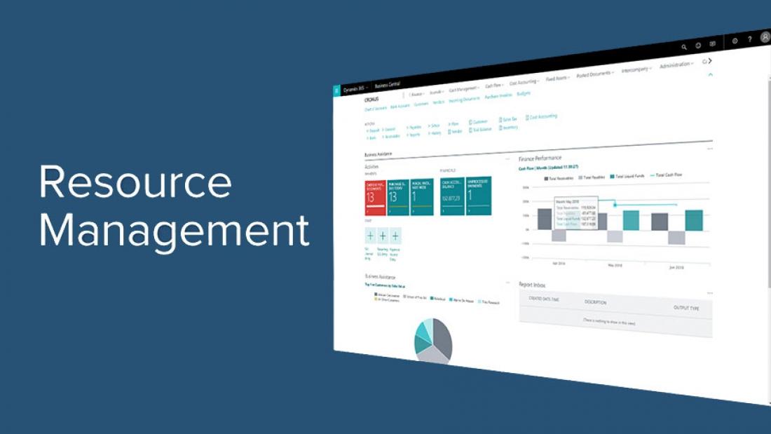 مدیریت منابع با مایکروسافت داینامیکس 365 بیزنس سنترال
